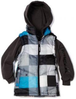 Hurley Boys 8 20 Zip Front Hooded Jacket, Hematite, Small