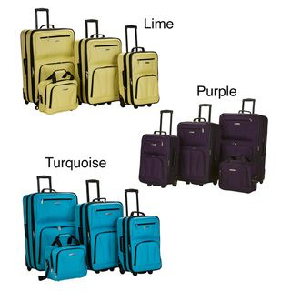 Rockland Fashion Colors 4 piece Expandable Luggage Set