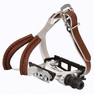 Eleven81 Leather Toe Clips & Straps Lge, Brown Leather