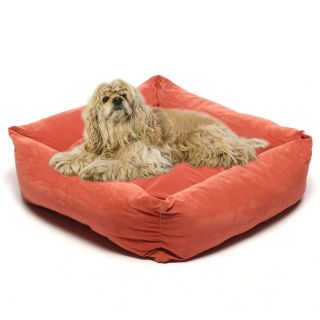 Earth Red 28 inch Microfiber Square Pet Bed