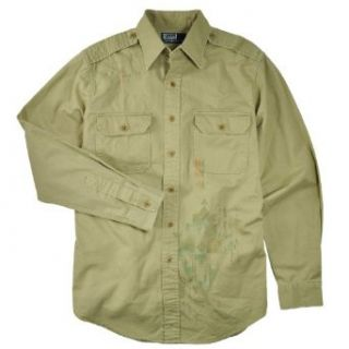 Polo Ralph Lauren Mens Custom Fit Military Twill Shirt