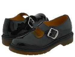 Dr. Martens 5026 Mary Jane Black Patent Pumps/Heels
