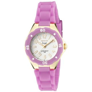 Invicta Womens Angel Light Purple Polyurethane Watch