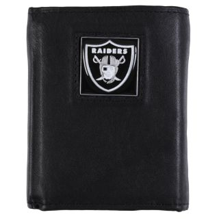 Oakland Raiders Mens NFL Genuine Leather Tri fold Wallet