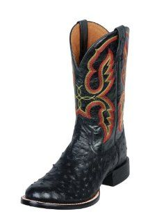 Pro Full Quill Ostrich Black Cowboy Boots/Shoes US 11 EE Shoes