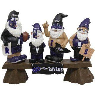 Team Beans Baltimore Ravens Fan Bench Gnome Set Sports