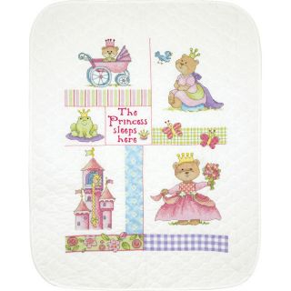Baby Hugs Baby Princess Quilt Stamped Cross Stitch Kit