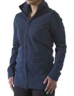KAVU Womens Sweet Pea Zip Front Sweater,Slate Blue,Medium