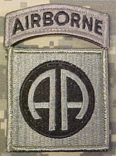 82nd Airborne Division ACU Patch with Airborne Tab