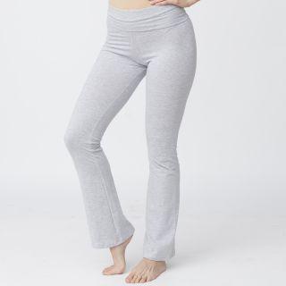 American Apparel Womens Heather Grey Cotton Spandex Jersey Yoga Pants