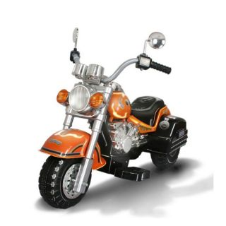 Harley style Orange Battery Operated Chopper Motorcycle Ride on