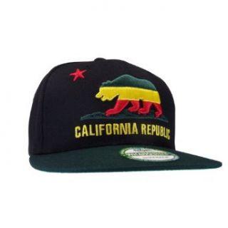 WHANG California Bear Flag Republic Flat Bill Snapback