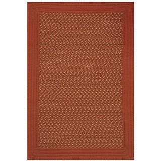 Donegal Indoor/ Outdoor Red/ Natural Braided Rug (2 x 5)