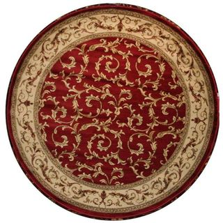 Veronica Red Area Rug (53 Round)