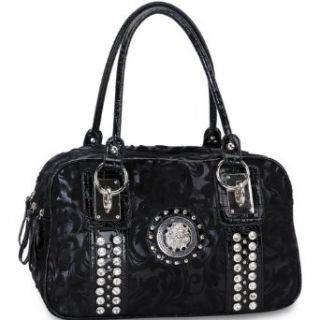 Designer Inspired Rhinestone Studded Satchel Handbag W