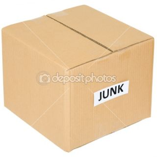 Cardboard box with an inscription junk  Stock Photo © pz.axe
