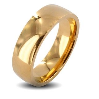 Stainless Steel Goldplated Wedding Band Ring (6mm)