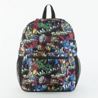 Marvel Comics All Over Print Black Backpack Clothing