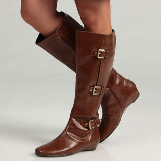 Aerosoles Womens Sarasota  Buckle Riding Boots