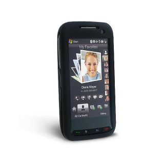 Eforcity Black Snap on Rubber Coated Case for HTC Touch Pro 2 (CDMA