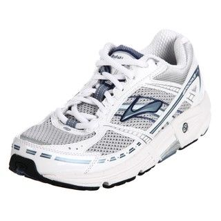 Brooks Womens Addiction 9 Silver Athletic Shoes