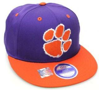 Clemson Tigers Flat Bill Snapback Hat Cap Purple Orange