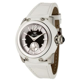 Glam Rock Womens Palm Beach White Patent Leather Watch