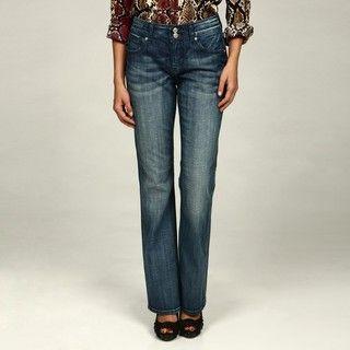 Miss Vigoss Womens Light Wash Bootcut Jeans