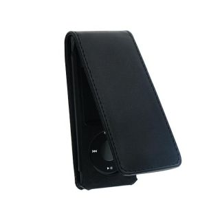 Eforcity Black Leather Case for iPod Nano Gen5