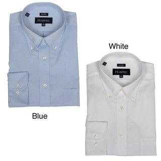 Haspel Mens Non iron Button down Collared Dress Shirt