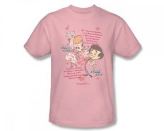 I Love Lucy   Rumba Dance Adult T Shirt In Pink: Clothing