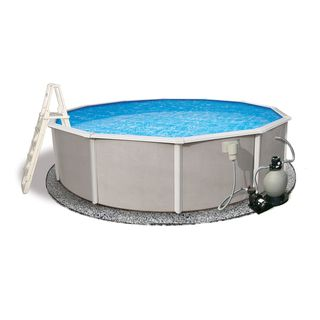 Belize Above Ground 24 foot Round Swimming Pool Package