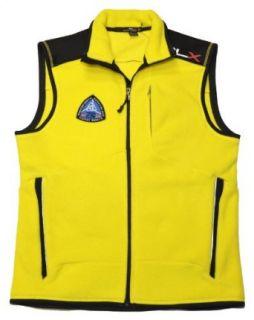 RLX by Ralph Lauren Men Full Zip Vest (M, Yellow/black