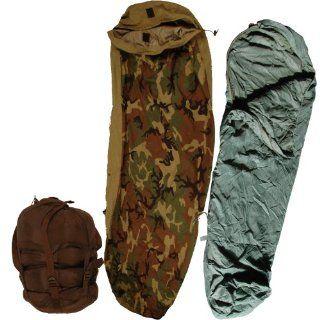 3pc. Us Military Modular Sleeping Bag System Goretex Bivy