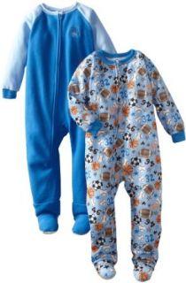 Gerber Boys 2 7 Ball Toss 2 Pack Blanket Sleeper, Blue, 3T