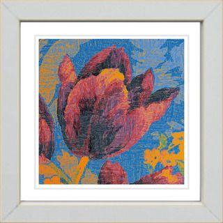 Studio Works Modern Blue Tulip   Orange Framed Print