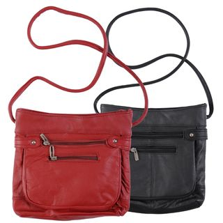 Journee Collection Genuine Leather Cross body Bag
