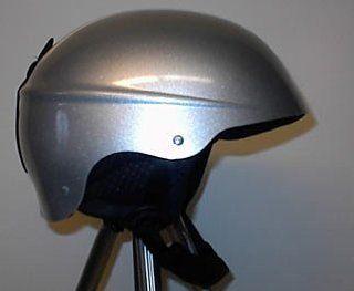 Lamar Surge Snowboarding Helmet, Metallic Silver, Small