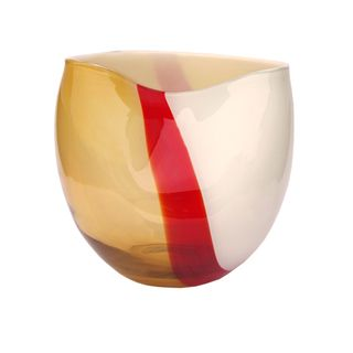 Jozefina European Hand blown Chic Ribbon Glass Vase