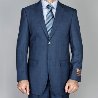 Giorgio Fiorelli Mens Cobalt Blue Windowpane 2 button Suit