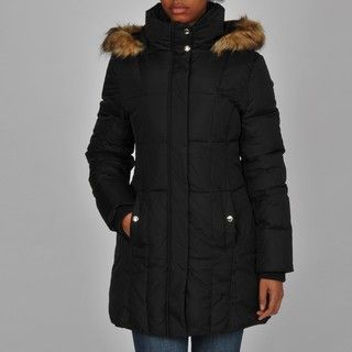 MICHAEL Michael Kors Womens Faux Fur Detachable Hood Coat