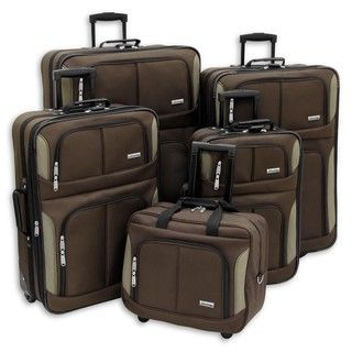 Advantage Chocolate Streamine 5 piece Luggage Set