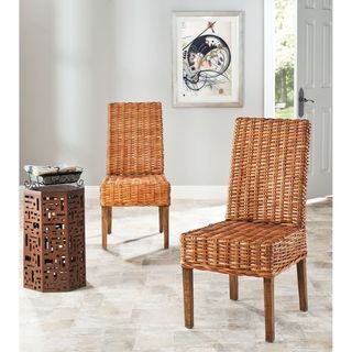 St. Thomas Indoor Wicker Honey Side Chairs (Set of 2)