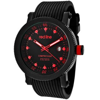 Red Line Mens Compressor Black Silicone Watch