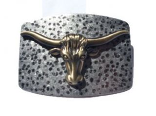 Cool Buckles Antique Metal Bronze Texas Longhorn Head Belt