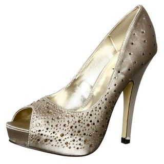 Luichiny Womens Troop Pers Satin Peep toe Pumps