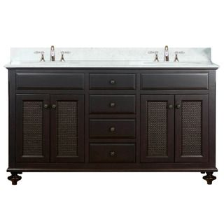 Water Creation London Collection 60 inch Double Sink Bathroom Vanity