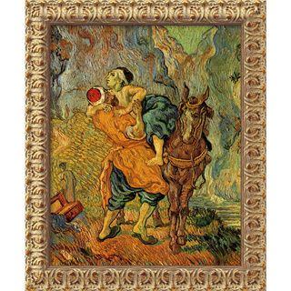 Vincent Van Gogh The Good Samaritan (After Delacroix) Framed Canvas