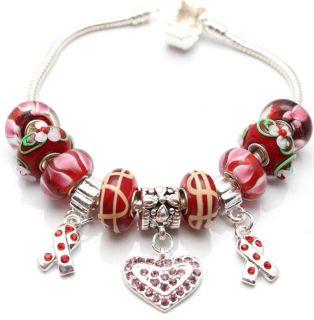 Bleek2Sheek True Hope Collection Scarlet Edition Charm Bracelet
