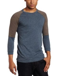 Vicarious by Nature Mens 3/4 Sleeve Crew Neck Shirt